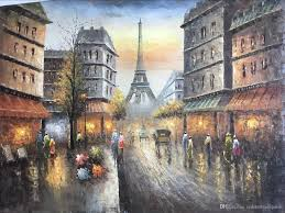 paris street painting palette knife oil painting on canvas bay 100 hand size w90cm l120cm hand knife oil painting london street painting seascape