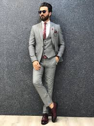 Slim Fit Suits Designer New Gray Slim Fit Suit Designer Suits For Men Grey Slim