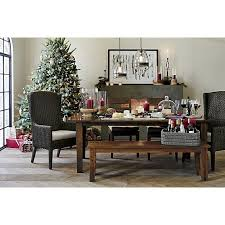 palmetto ii arm chair with cushion and the basque dining collection crate and barrel