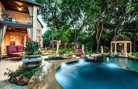 luxury backyard pool designs. Luxury Backyards With Pools Backyard Dark Blue Swimming Pool And Garden Gazebo . Designs