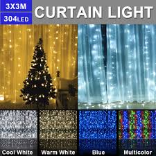 Curtain Led Lights Uk Us 14 61 20 Off 3m X 3m Christmas Curtain Led String Curtain Lights Indoor Outdoor Decoration Led Garden Stage Fairy Light Us Eu Au Uk Plug D20 On