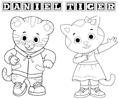 Coloring Pages Daniel Tiger Coloring Pages Printable Cartoons Free