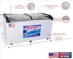 Tủ đông mặt kính cong Denver AS 880K 800 ống đồng