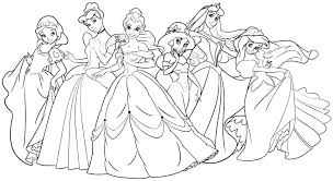 Disney Princess Coloring Pages Free Pdf To Print Ariel Baby And Ba
