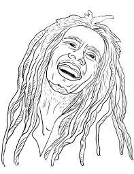 Bob Marley Kleurplaat Gratis Kleurplaten Printen