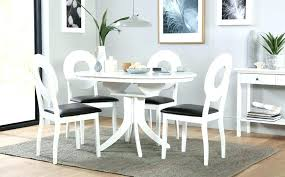 white dining table 4 chairs top round white extending dining table and 4 chairs set flint