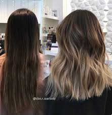 Brunette Hairstyles 51 Best Before And After Brunette Bayalage And Lob Cut Chermariano Hair
