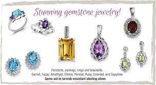 stunning gemstone jewelry pendants earrings rings bracelets garnet topaz amethyst citrine peridot ruby emerald sapphire