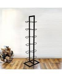 standing wine rack. Mesa 6-Bottle Floor Standing Wine Rack In Antique Black 1