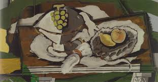 8 georges braque fruit dish and fruit basket 1928 oil and sand on canvas