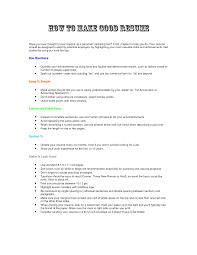 Resume Good Resume Builders