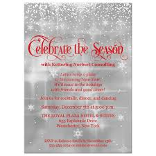 Work Christmas Party Flyers Celebrate The Season Holiday Party Invitation Red Gray White