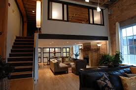 View in gallery Stunning loft apartment with beautiful window treatments  for the suspended office