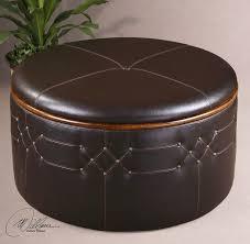 Brunner Round Leather Ottoman With Storage