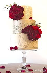 Black And White Wedding Cakes With Red Roses Black And White Wedding