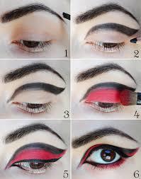 without easy eye makeup eye brows i used black eye shadow