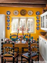 Yellow Kitchen with Santa Fe Style - Southwest Kitchen Decor - House  Beautiful this is what I had in mind for chairs beautiful style for  traditional mexican ...