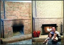fresh refinish brick fireplace for elegant how