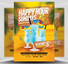 Happy Hour Flyer Summer Happy Hour Flyer Template Flyerheroes