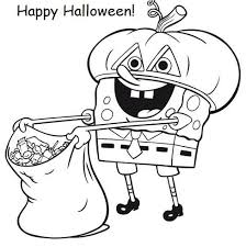 spongebob halloween coloring pages my family fun spongebob halloween coloring pages happy halloween on spongebob halloween coloring pages
