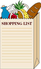 Paper Clipart Shopping List - Pencil And In Color Paper Clipart ...