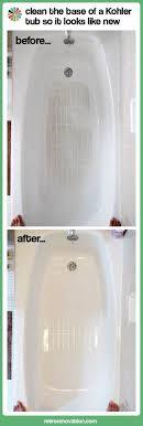 how to clean fiberglass tub best of 1235 best how to clean a kohler bathtub bottom