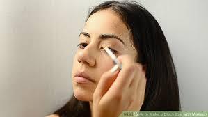 image led make a black eye with makeup step 16