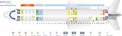 Delta Dc 9 Seating Chart Delta Air Lines Fleet Mcdonnell Douglas Md 90 30 M90