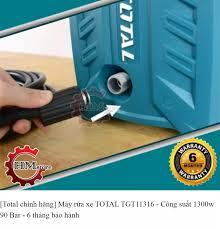 Máy Rửa Xe Mini Total TGT113 - Máy rửa xe Total 1300w - Máy rửa xe gia đình  Total - Máy phun xịt rửa xe Total TGT11316