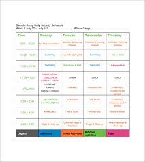 13 Camp Schedule Templates Pdf Doc Free Premium Templates