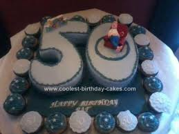 Coolest 50th Birthday Cake With Cupcakes