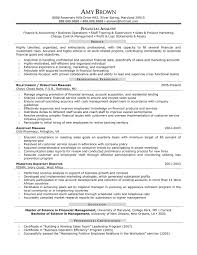 Financial Analyst Resume Objective Financial Analyst Resumes