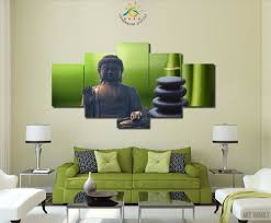 3 4 5 Stuks Gedrukt Bamboe Boeddha Schilderij Op Canvas Kamer