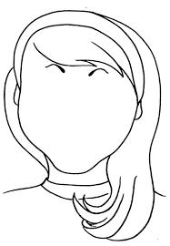 Hair Coloring Pages Of Girl With Long Reynaudowin