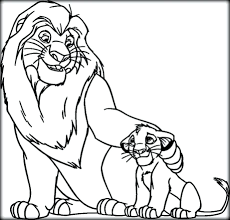 Mufasa And Sarabi Coloring Pages Simba Simba And Mufasa Coloring ...