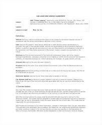 Vehicle Purchase Agreement Template Sample Letters 5 Free Car Form T ...