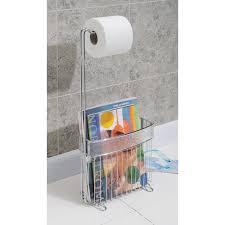 Toilet Paper Holder With Magazine Rack Toilet Paper Holder With Magazine Rack Brushed Nickel door 22