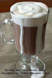 hot chocolate with marshmallows and whipped cream.  Marshmallows This Spiked Hot Chocolate With Marshmallow Vodka Whipped Cream Is The  Perfect Cold Winter Day Cocktail For Hot Chocolate With Marshmallows And Whipped Cream T