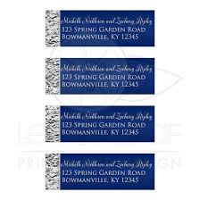 silver address label personalized address labels navy blue silver faux foil