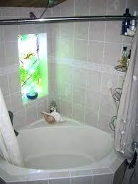 corner bath shower curtain garden tub shower curtain ideas garden tub shower curtain rod lovely corner