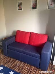 kanapa sofa black red white styl marynarski czerwony