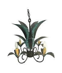 palm tree chandelier image 0 vintage
