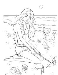 Barbie Coloring Pages Print Barbie Coloring Pages Free Printable
