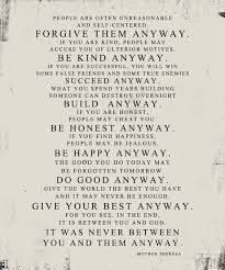 Mother Teresa Quote Love Them Anyway