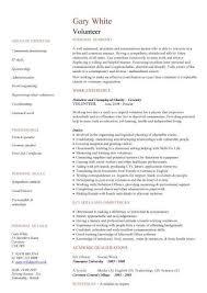 Sample Resume Volunteer Work