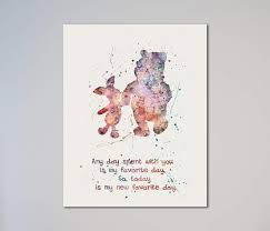 Winnie The Pooh And Piglet Quote 11 X 14 Inches Print