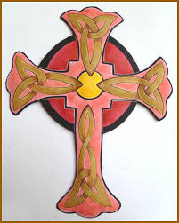 cross wall hanging painted metal