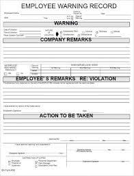 Employee Reprimand Form Employee Pinterest Sample Resume