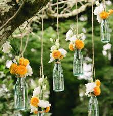 floating glass bottles with twine