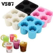 ice shot glasses tray silicone